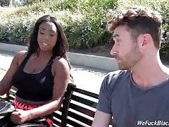 Black cutie Lisa Tiffian meets porno superstar James Deen.