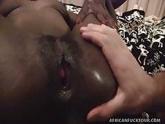 Real Life African Escort Alexis Takes a Monster Dick!