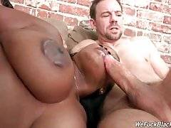 Fleshy Black Babe Is Fucked By White Guys 1